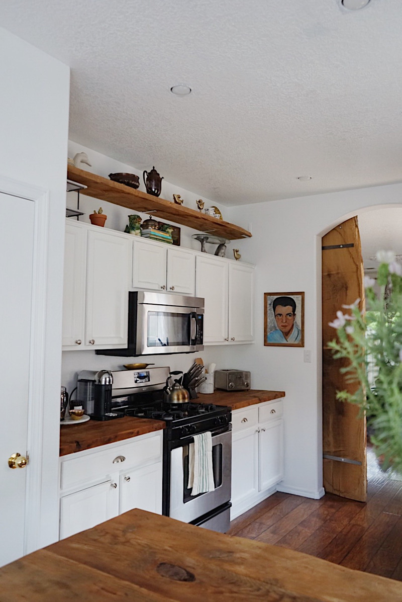 one year with wood countertops...