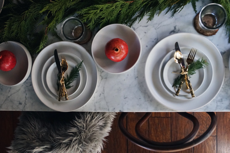 a nature inspired tablescape for the holidays