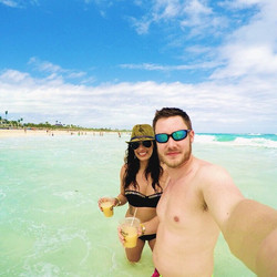 Soaking in the white sands and clear waters of El Bavaro.jpg Life is good