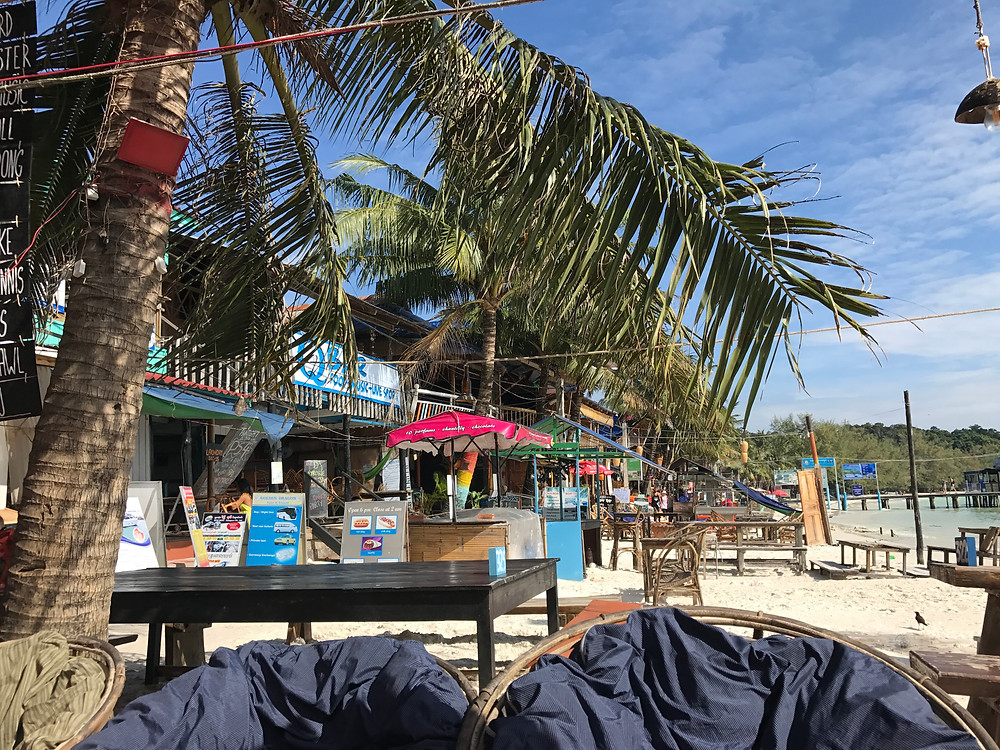 The busiest part of Koh Rong Island.