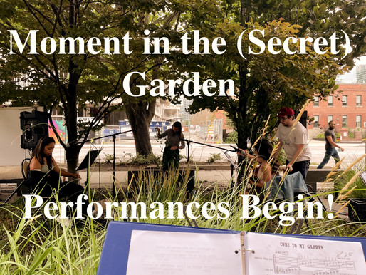 Our First Musical Moment in the (Secret) Garden Show