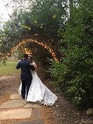 Fort Worth small garden wedding-bride groom