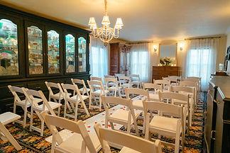 Azalea-dining room ceremony-with black c