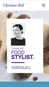 Portfolio & CV website templates – Food Stylist