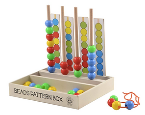 Wooden Bead Pattern Box