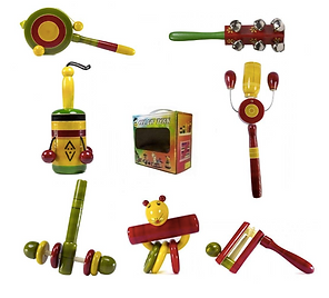 Wooden Rattle Toys