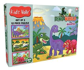 Dino World Puzzle Set