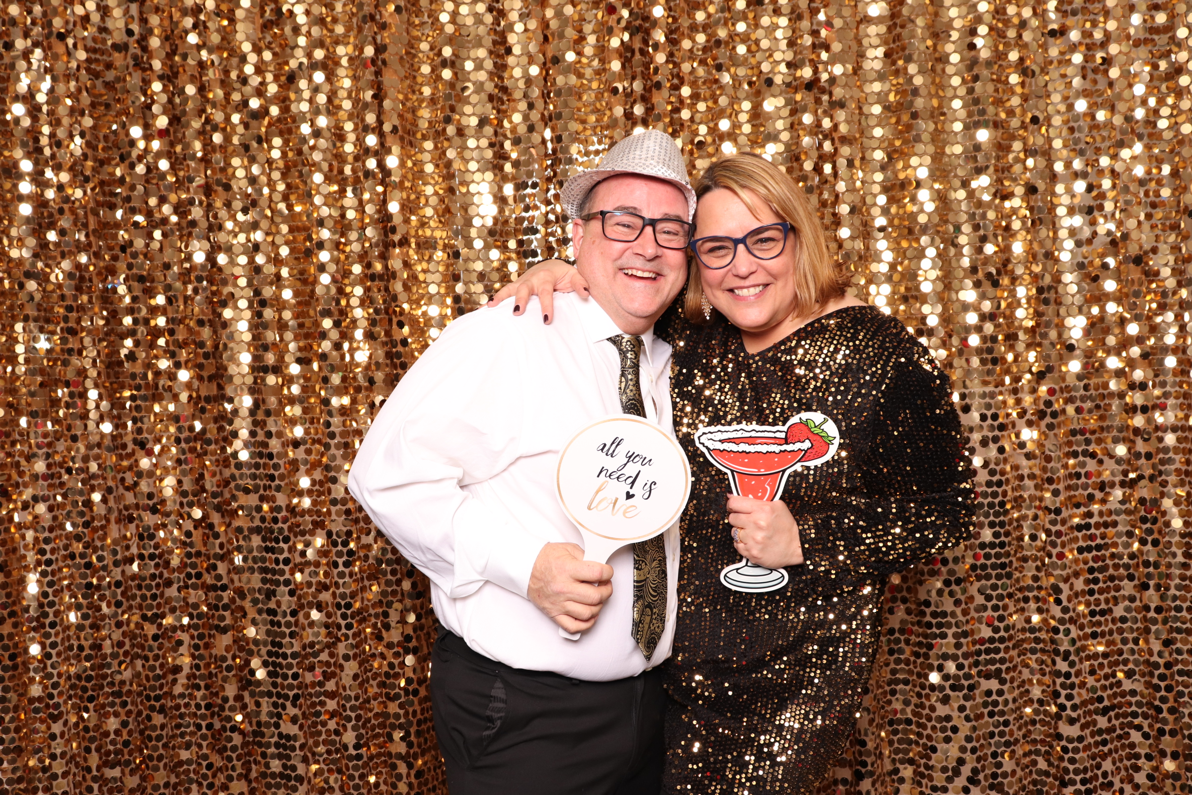 Photo Booth Gold Sequin