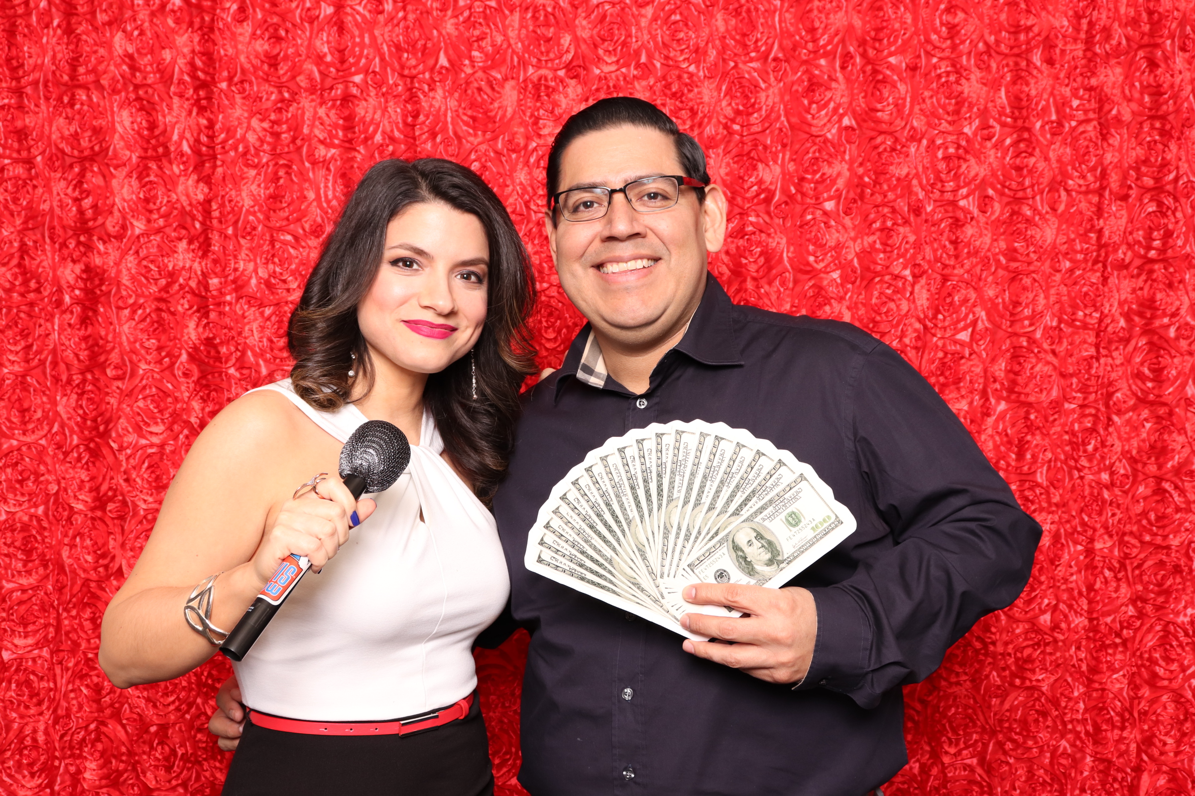 Photo Booth Red Rosette Money Prop