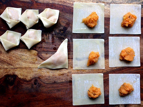 Miso and Kimchi Dumplings