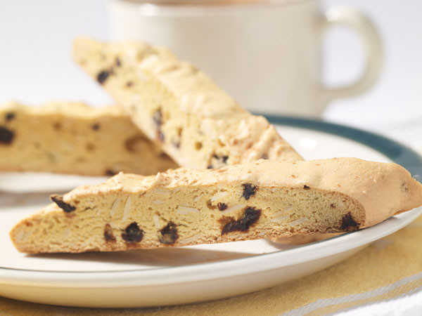 Photo credit @pulsecanda Cherry almond biscotti with chickpea flour