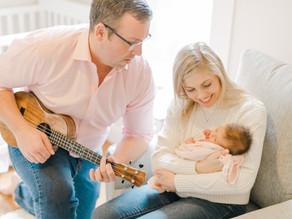 Larrabee Family Home Newborn Session