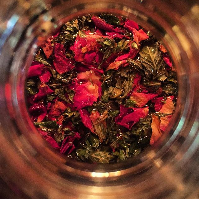 Cannabis and rose kombucha
