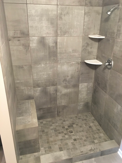 Tile Shower with Seat
