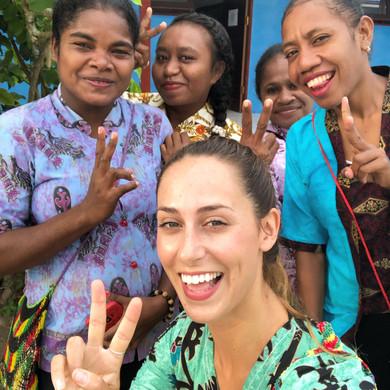Selfie with the other teachers in Yenbuba Elementary school!