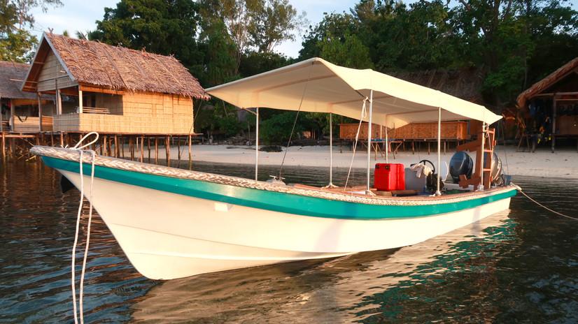 Our first boat Caroline, built December 2018.