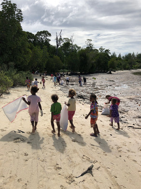 Cleaning the Yenbuba beach