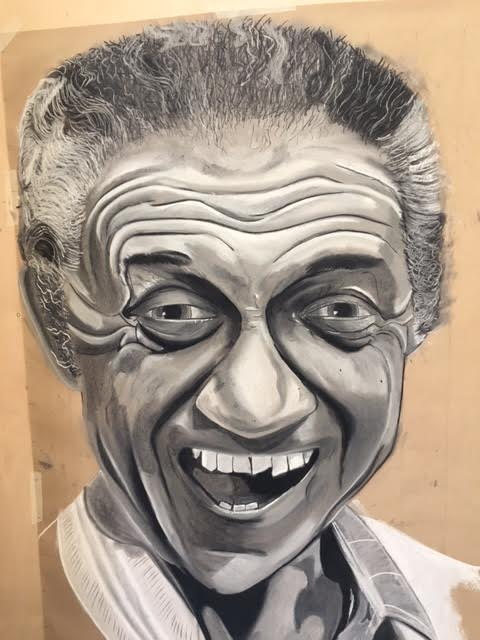 3ft portrait of Sid James