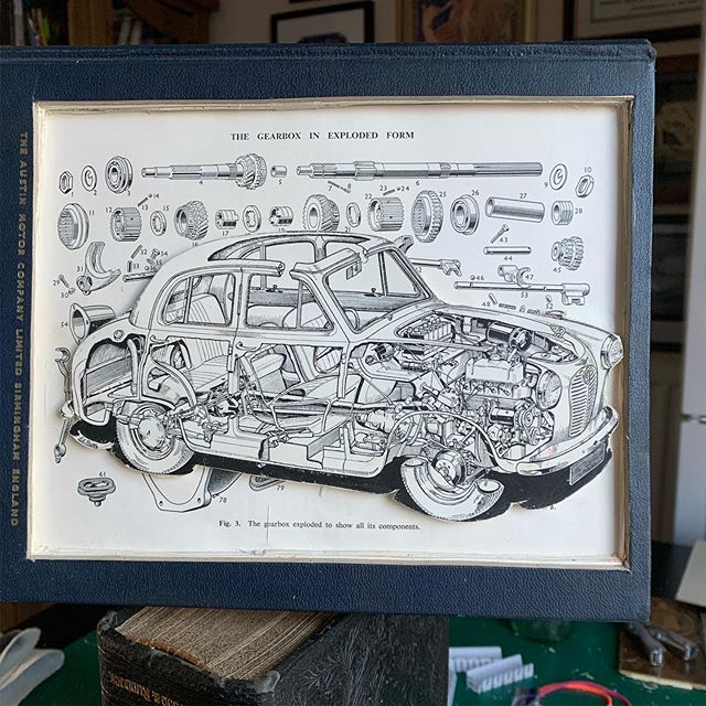 Vintage Car Manual Book Sculpture