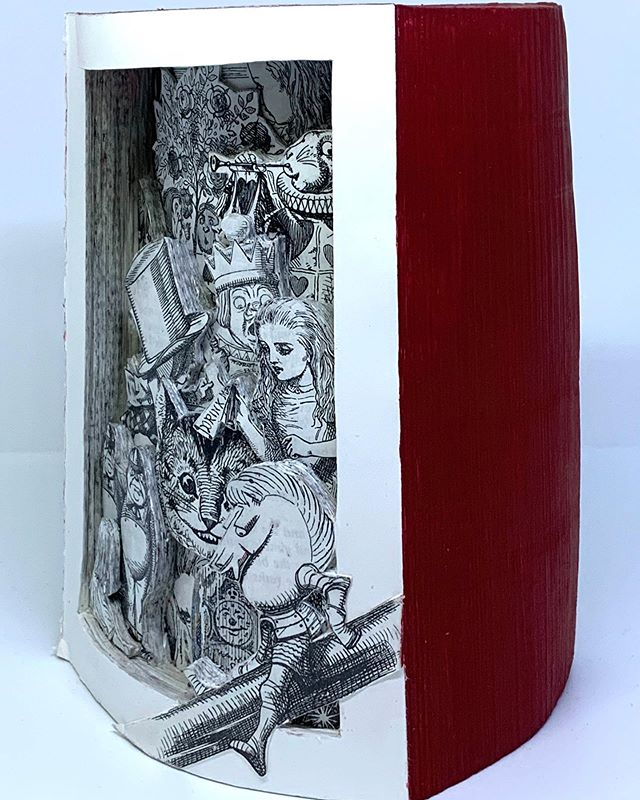 Alice In Wonderland Book Sculpture