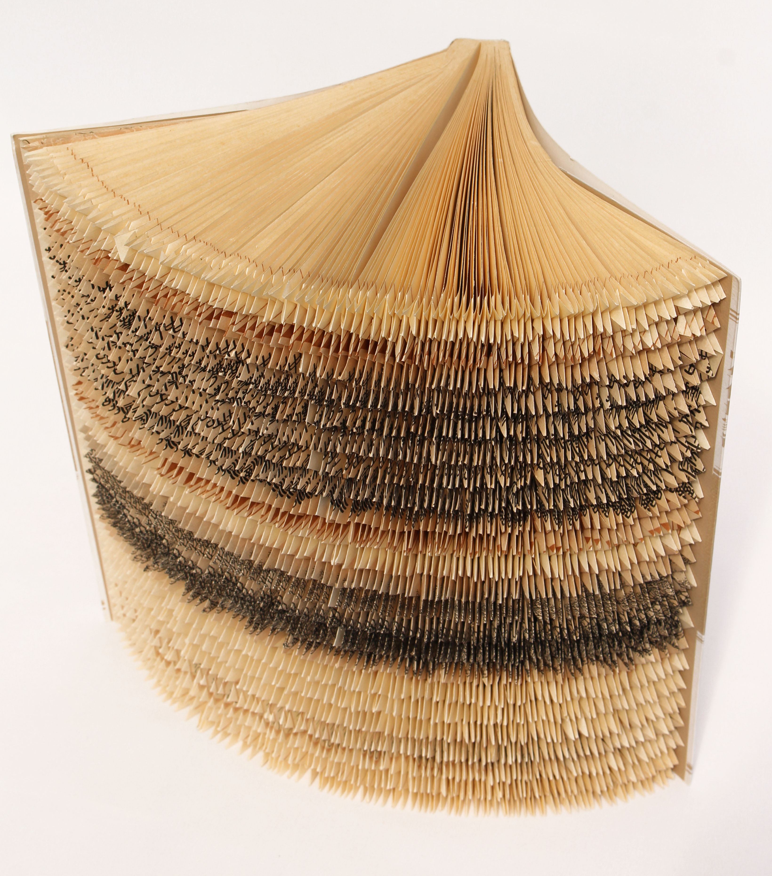 Japanese Fore-edge Folded Book , Top View