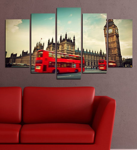 London Clock Tower (3) 5 Pieces MDF Painting