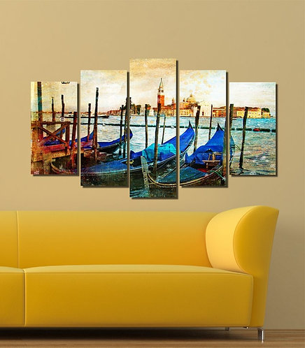 Venice (5) 5 Pieces MDF Painting