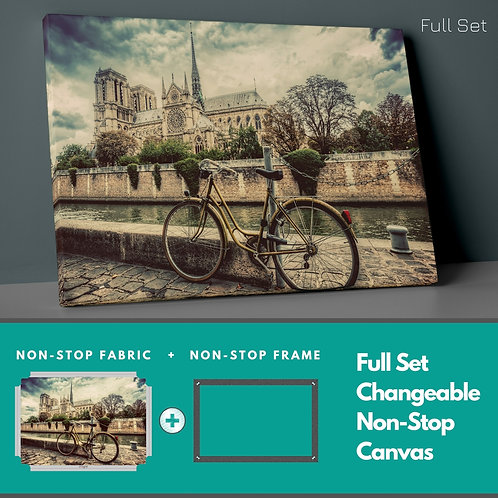 Nostalgic Bicycle Non-Stop Canvas Printings