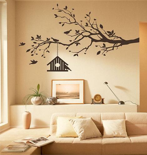Dalda Bird House Wall Sticker