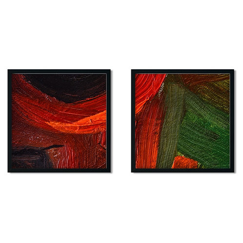 Red and Green Framed Painting