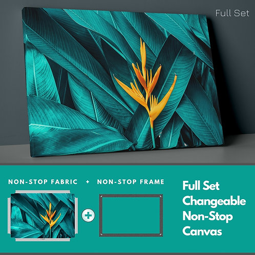 Yellow Leaf Non-Stop Canvas Printings