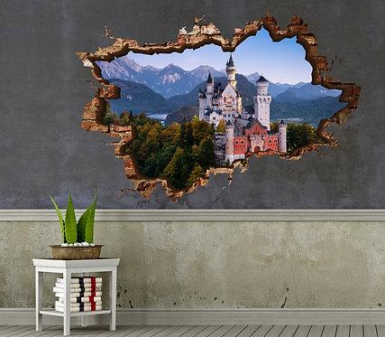 Neuschwanstein Castle 3D Wall Sticker