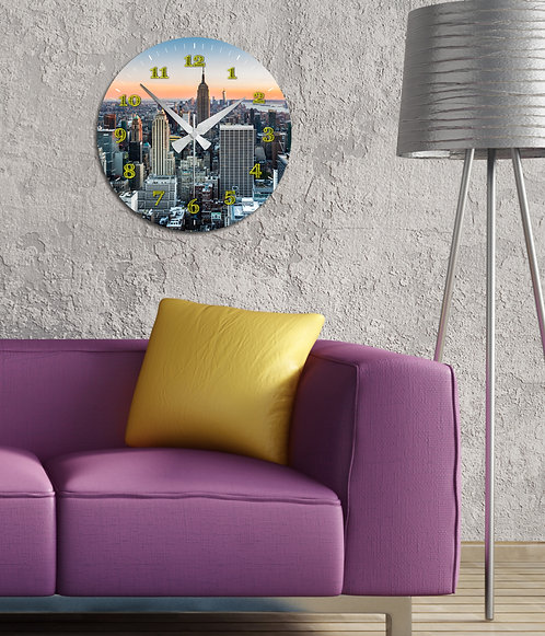 Feather MDF Clock