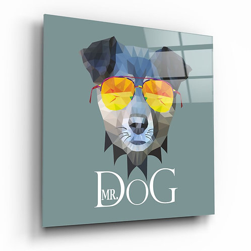 Dog UV Printed Glass Painting