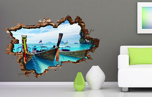 Boats 3D Wall Sticker