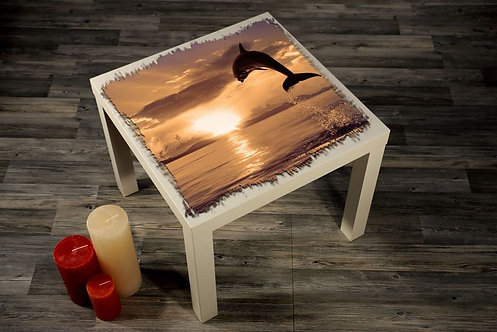 Dolphin Printed Coffee Tables