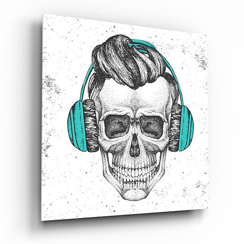 Skull - Always Music Glass Printing