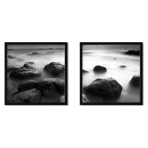 Stones on the Beach Framed Painting
