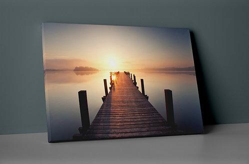 Sunset On The Docks Canvas Printings
