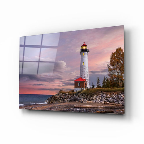 Lighthouse UV Printed Glass Painting