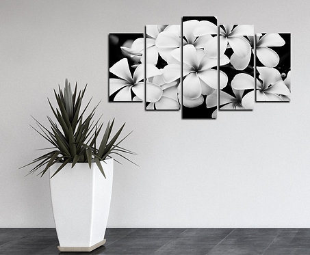 Flower 5 Pieces MDF Painting