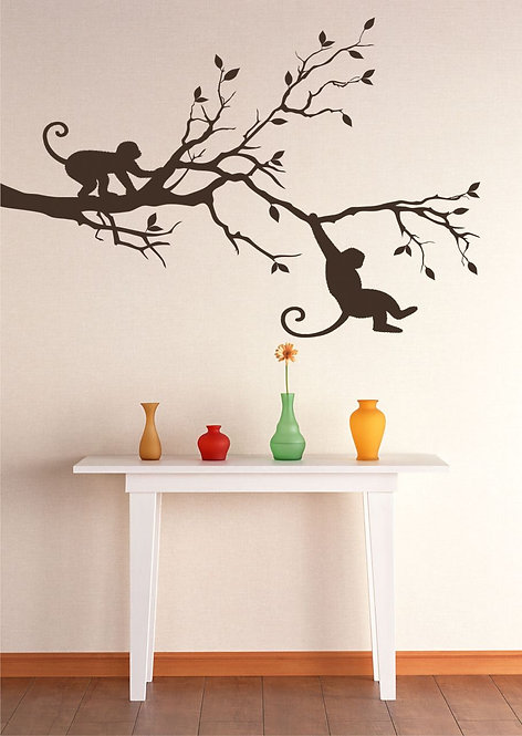 Monkeys On The Branch Wall Sticker
