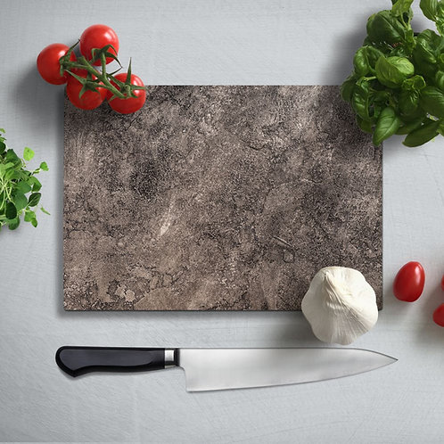 Granite Pattern Uv Printed Glass Chopping Board 35x25cm