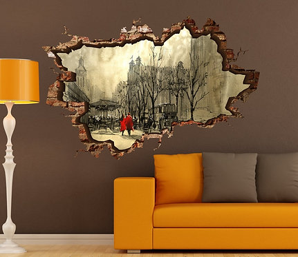 Street 3D Wall Sticker
