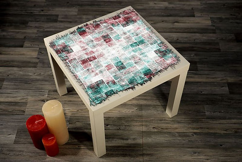 Abstract Squares Printed Coffee Tables