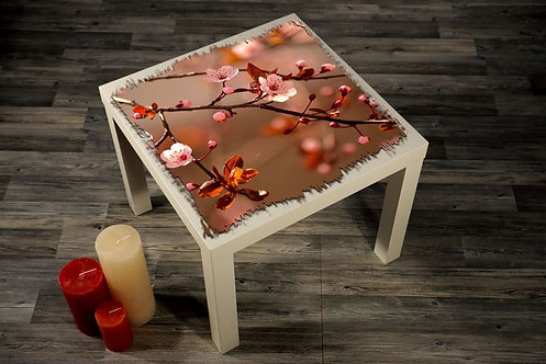 Flowers On Branch Printed Coffee Tables