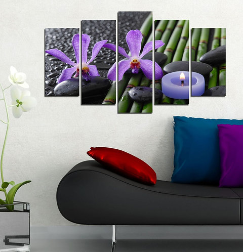 Flowers (11) 5 Pieces MDF Painting