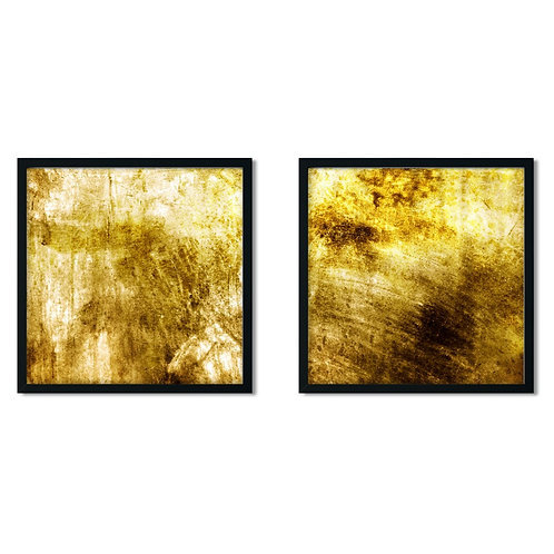Abstract Yellow Framed Painting