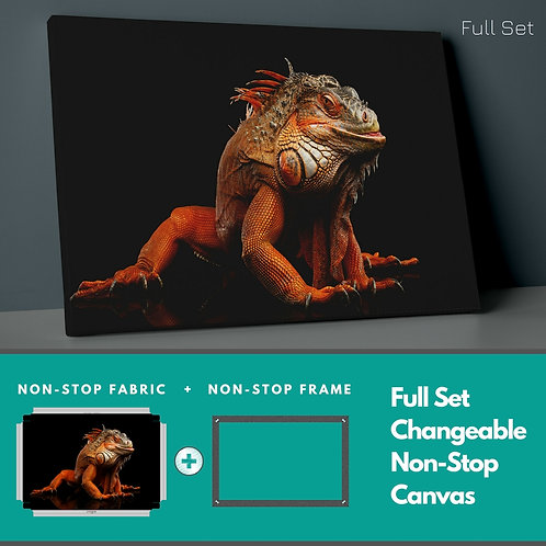 Colorful Reptile Non-Stop Canvas Printings