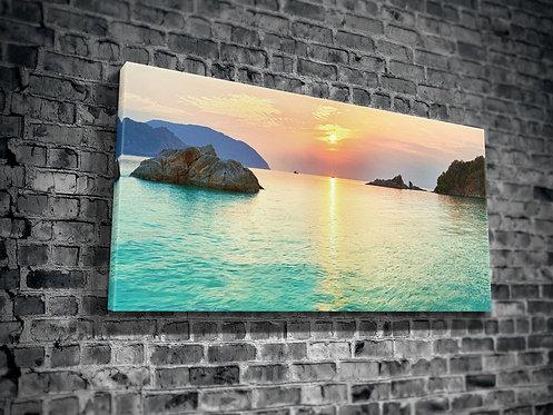 Sunset On The Beach  Canvas Printings